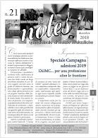 NOTES 21 -dicembre 2018  - ADESIONI 2019