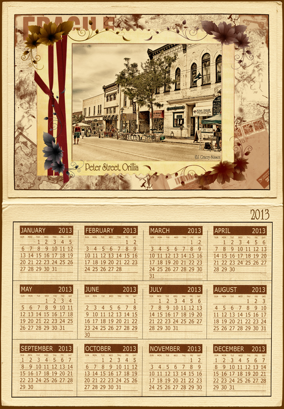 Calendar Vintage Travel : Orillia travel calendars