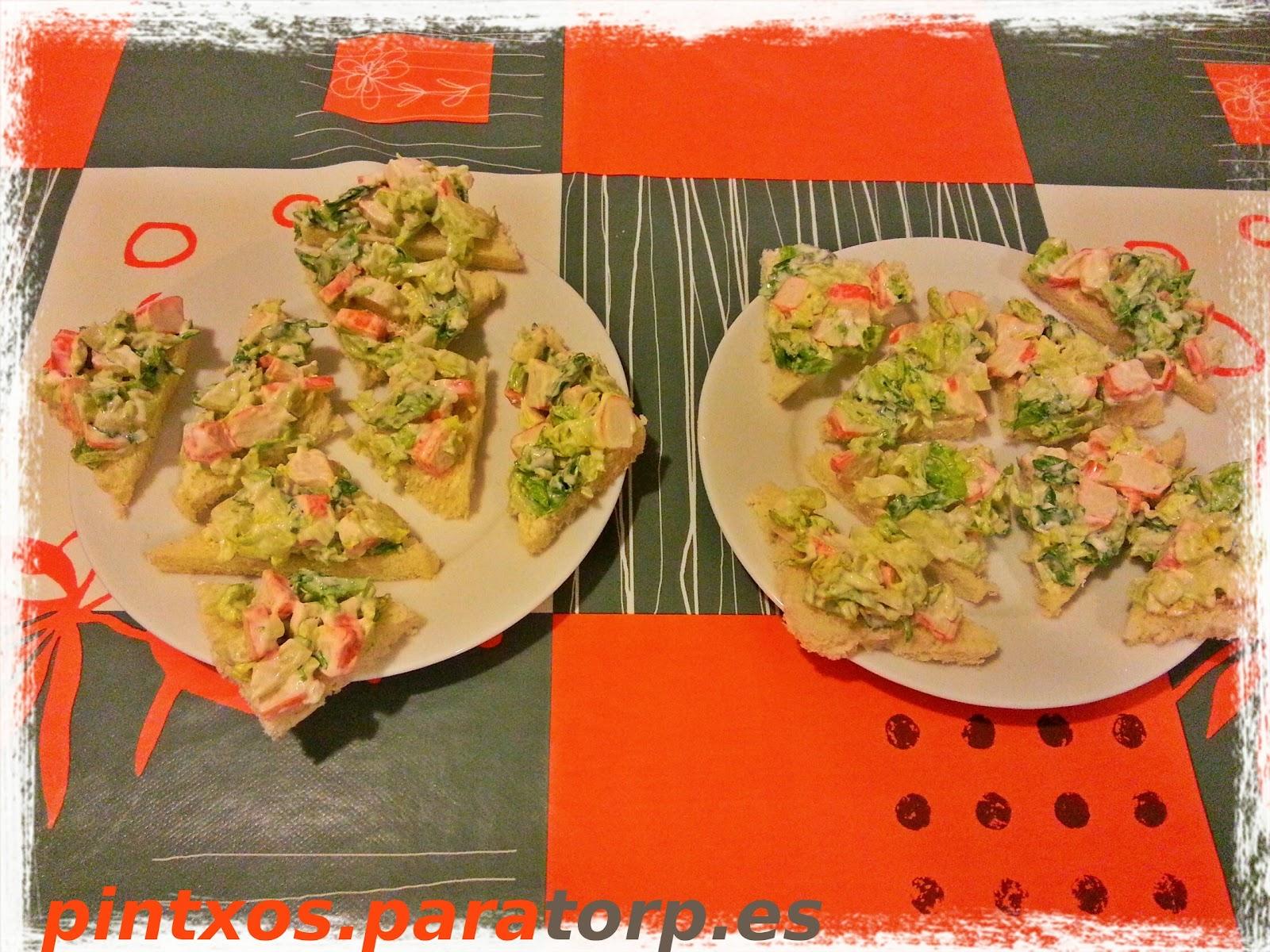 Pintxos para torpes pintxos tapas aperitivos entrantes for Canape de cangrejo