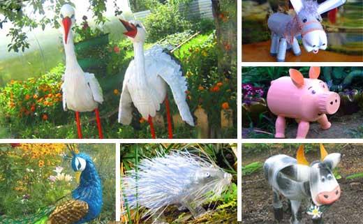 Животные из пластиковых бутылок своими руками видео