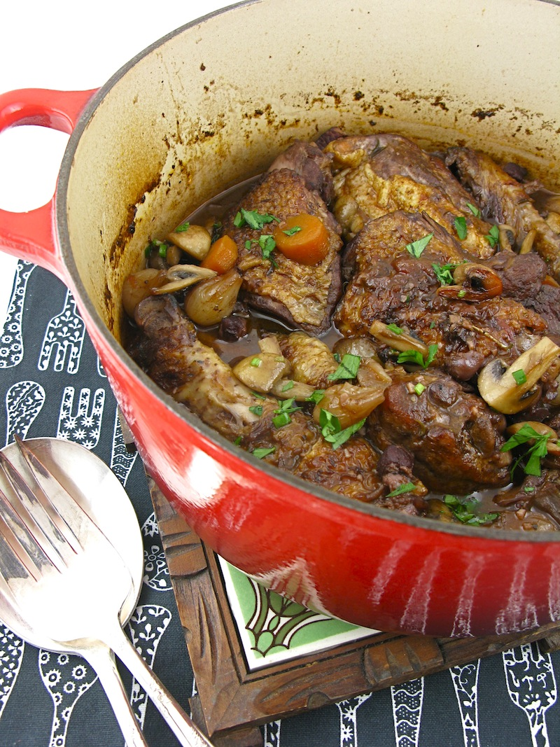 JULIA CHILD'S COQ AU VIN & CHOCOLATE MOUSSE CHARLOTTE ...