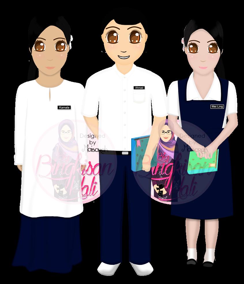 tempahan design doodle murah, tempahan design vector potrait, Tempahan Design Header Doodle, sekolah rendah