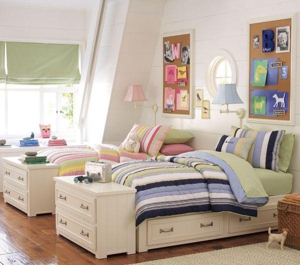 Habitaci n para ni o y ni a dormitorios con estilo for Habitacion nino y nina