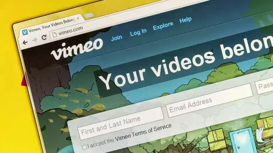 التحميل من موقع vimeo