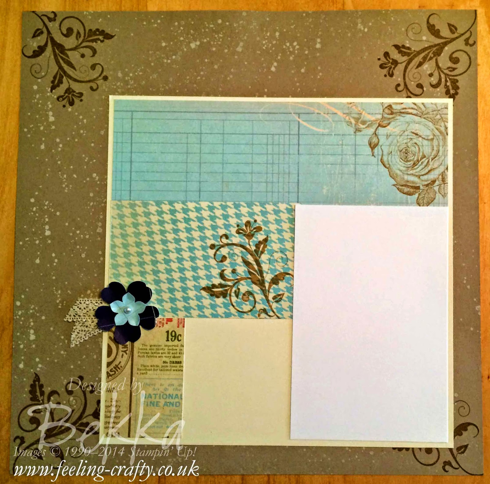 Scrapbook Page made using Stampin' Up! Supplies - available in the UK here