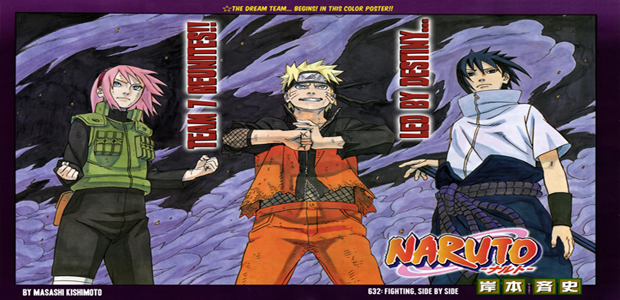 Naruto Manga 632 Cover Colored Page