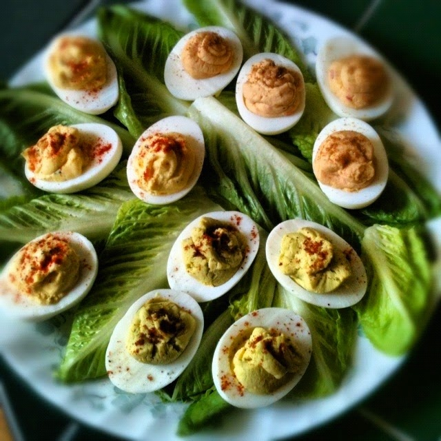 The Adventures of Kitchen Girl: Trio of Deviled Eggs