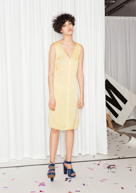 lemon silk midi dress, rachel antonoff silk dress,