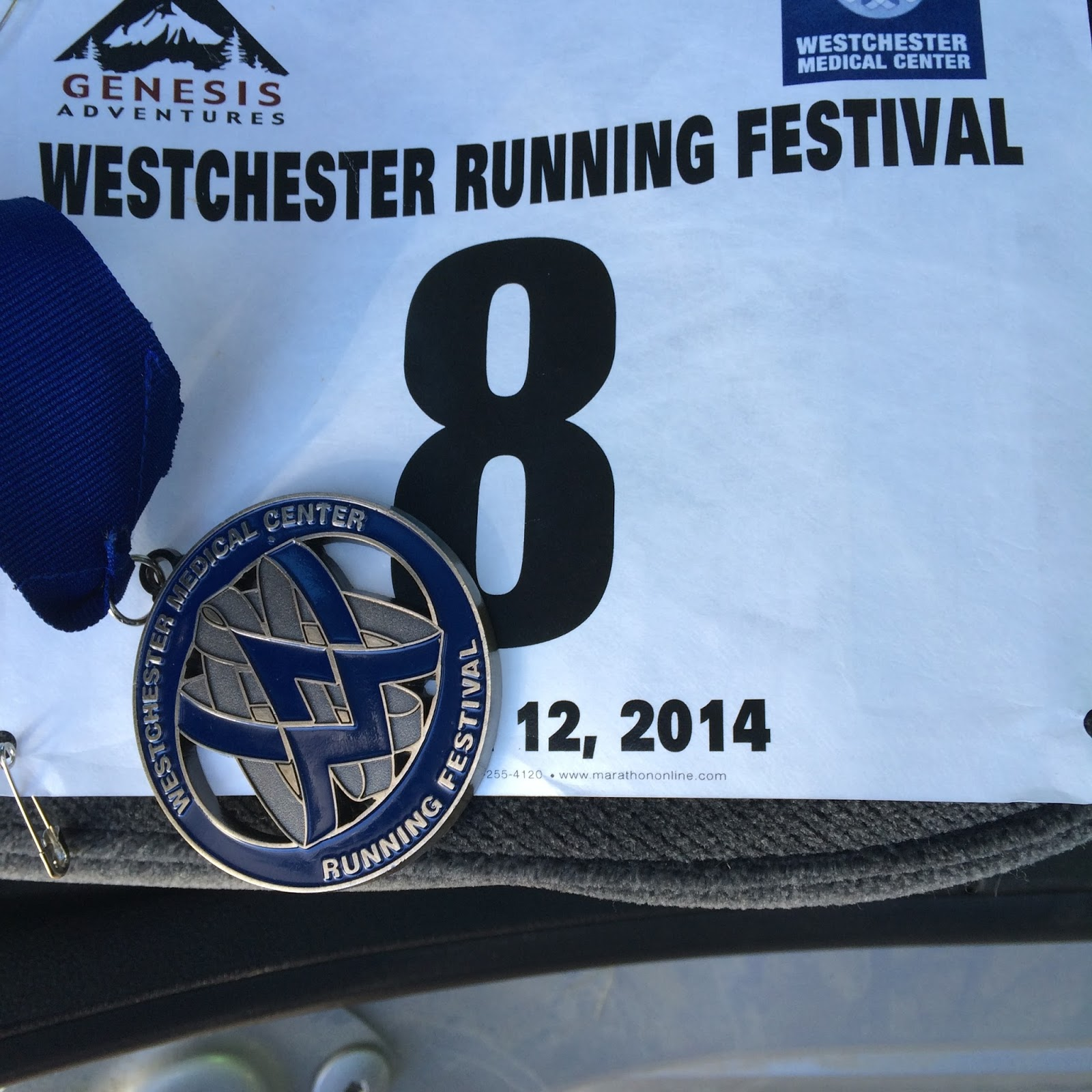 The Bling, #halfmarathon #walking #weschesterhalf 2014