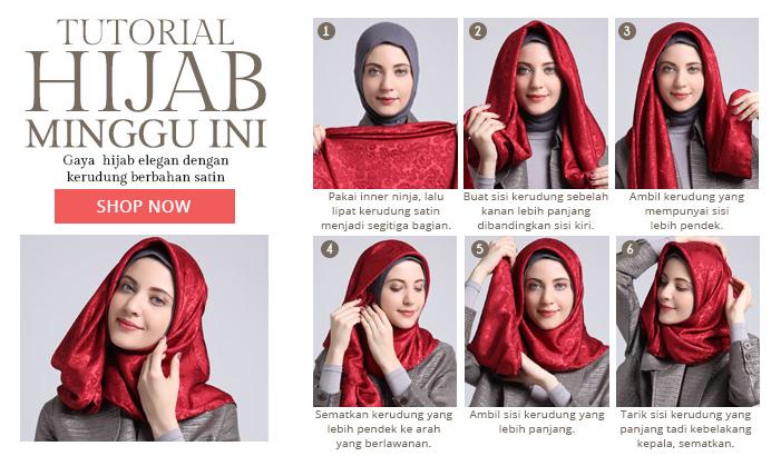 Foto Tutorial Hijab Modern Lebaran Untuk Remaja