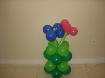 Modelo de decoração em balões ... jardim!