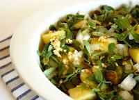 Salada de Batata com Beldroega e Alcaparras (vegana)