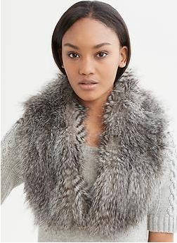 Banana Republic Anna Karenina, Fall fashion, fur scarf, fur stole, faux fur
