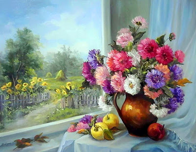 cuadros-de-flores-con-paisajes-al-oleo