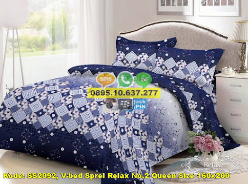 V-bed Sprei Relax No.2 Queen Size 160x200