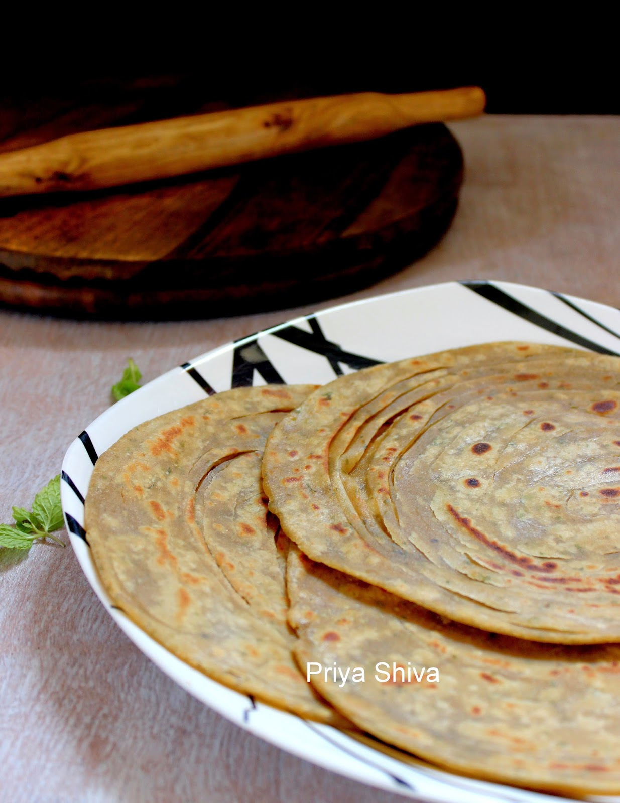Lachha Paratha Layered Griddle Cooked Flatbread Recipes — Dishmaps