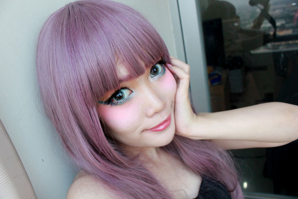 Going Harajuku With Purple Hair Stella Lee Indonesia Beauty And