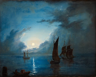 Paisajes Nocturnos Barcos Marinas