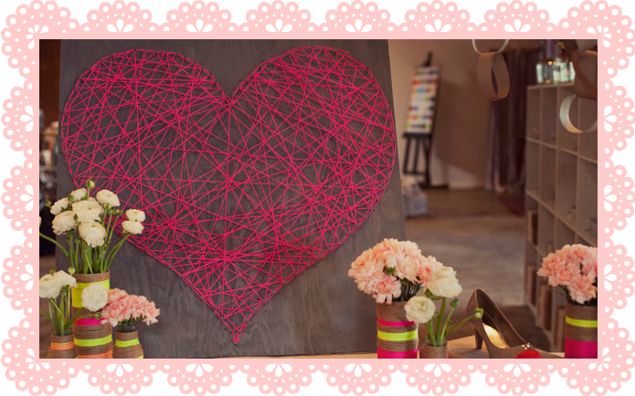 CORAZON NAIL STRING ART HEART DIY