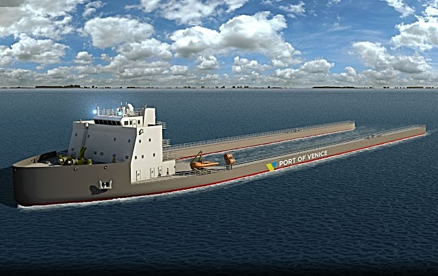 """Venezia, UE co-finanzia il prototipo della prima """"mama vessel"""""""