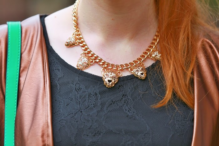 tygří náhrdelník, levné doplňky, trendy léto 2015