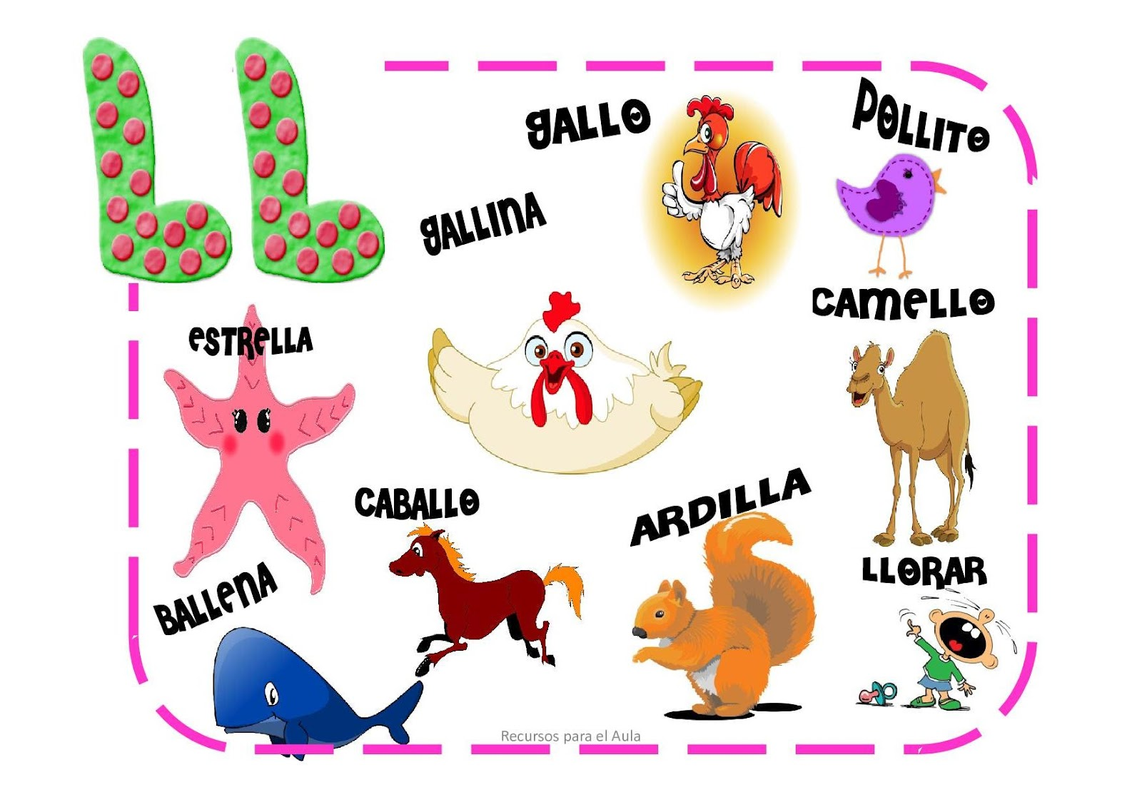LEARNING IS FUN!: CARTELES CH, LL, Ñ