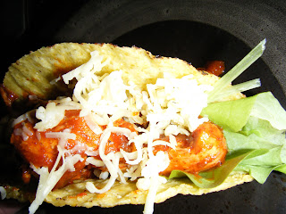cheese topped taco