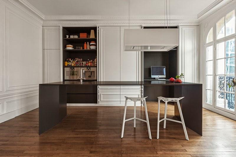 isla de cocina minimalista y ultrafina de i29