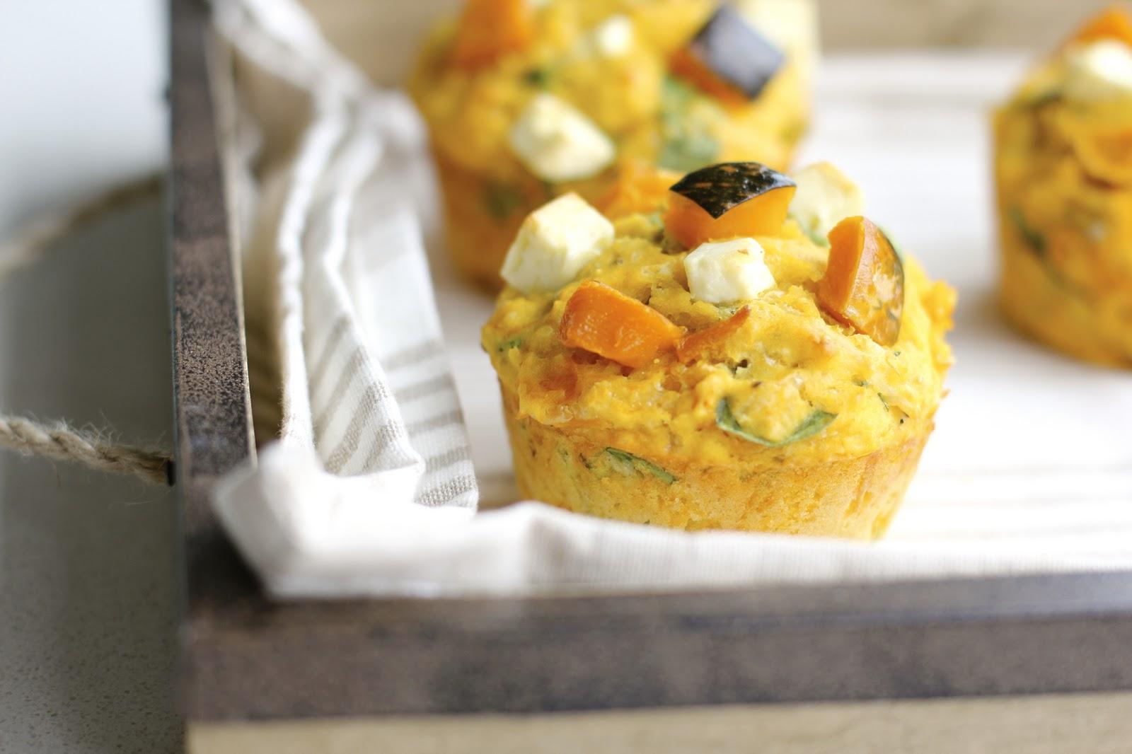 Green Cilantro: Pumpkin and Feta Muffins