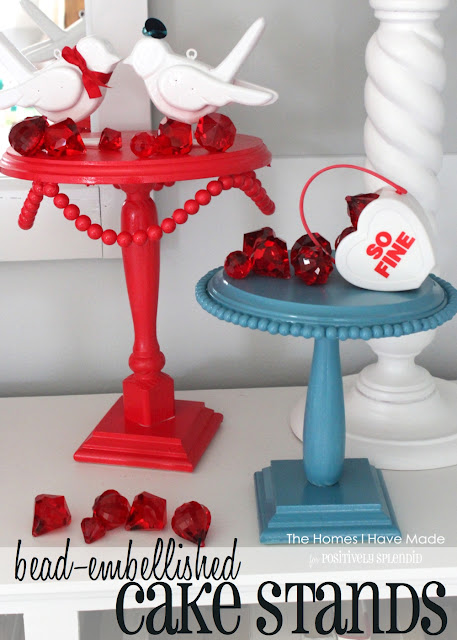 Bead-Embellished DIY Cake Stands