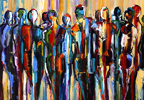 palette knife painters the good people figurative