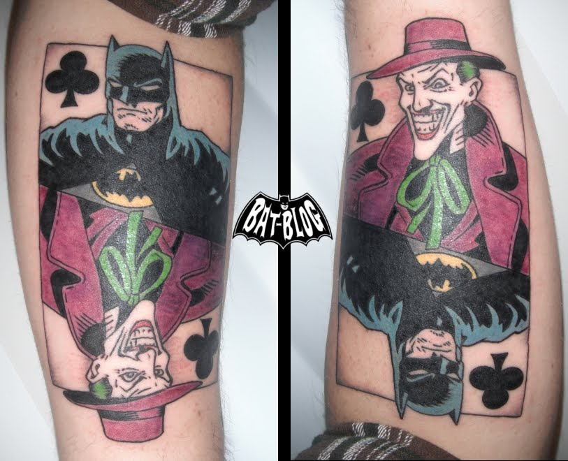 Batman Joker Card Tattoo JOKER PLAYING CARD Tattoo
