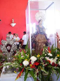 Reliquia e Imágem de Santa Luzia visitam a Igreja Matriz do Sagrado Coração de Jesus, Almino Afonso - RN