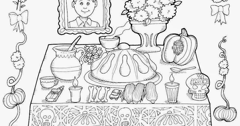 Fichas para Colorear de Día de Muertos | Por Una Escuela Divertida