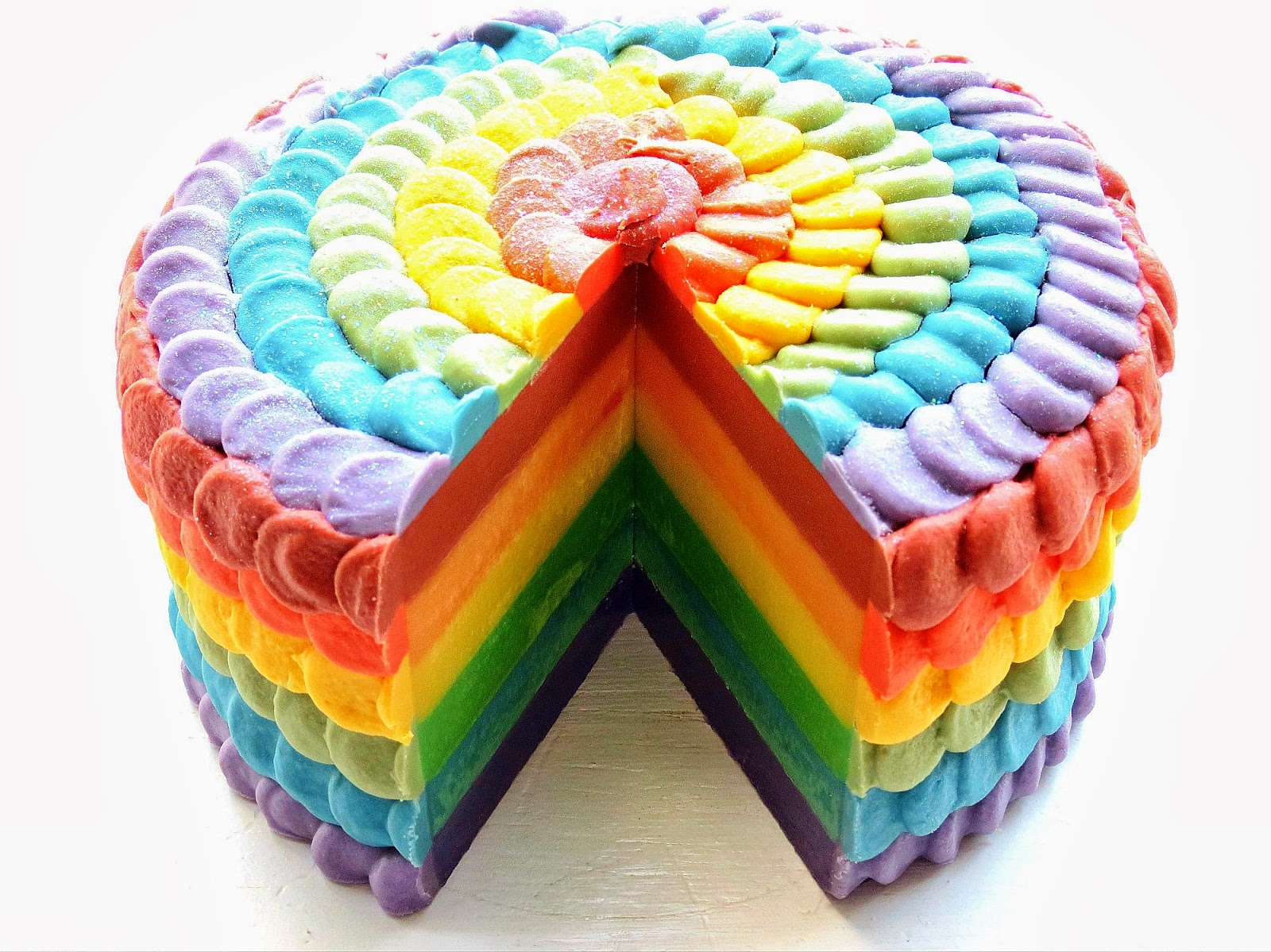 Rainbow Petal Cake Tutorial