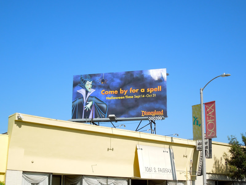 Maleficent Disneyland Halloween Time billboard