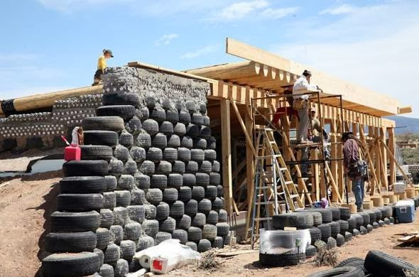 Earthship Construction Materials : Living off the grid earthships real myfarm