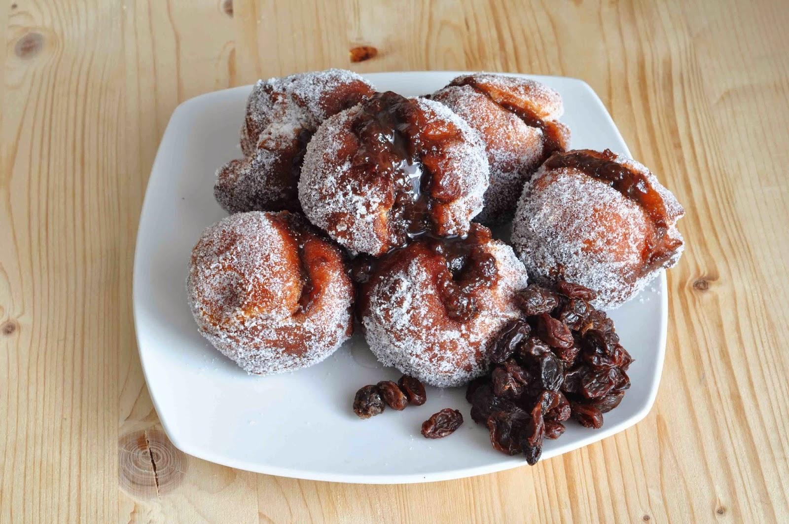 Rum & Raisin Doughnuts