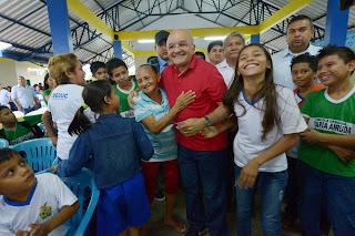 Em inauguração de escola em Urucurituba, governador José Melo destaca investimentos nas áreas social, de saúde e infraestrutura
