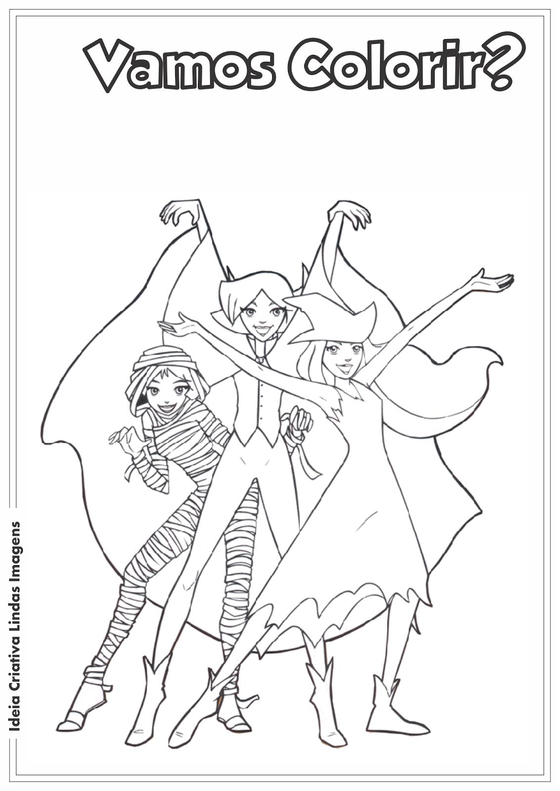 Três Espiãs Demais desenho para colorir