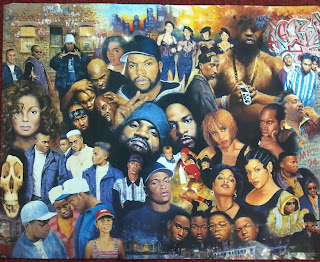 a poster collage featuring some of the best rappers of the 20th century