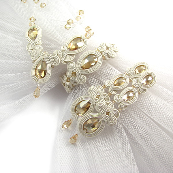 Biżuteria sutasz dla panny młodej komplet