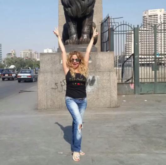 رزان مغربي تحتفل بعيد ميلادها في التحرير