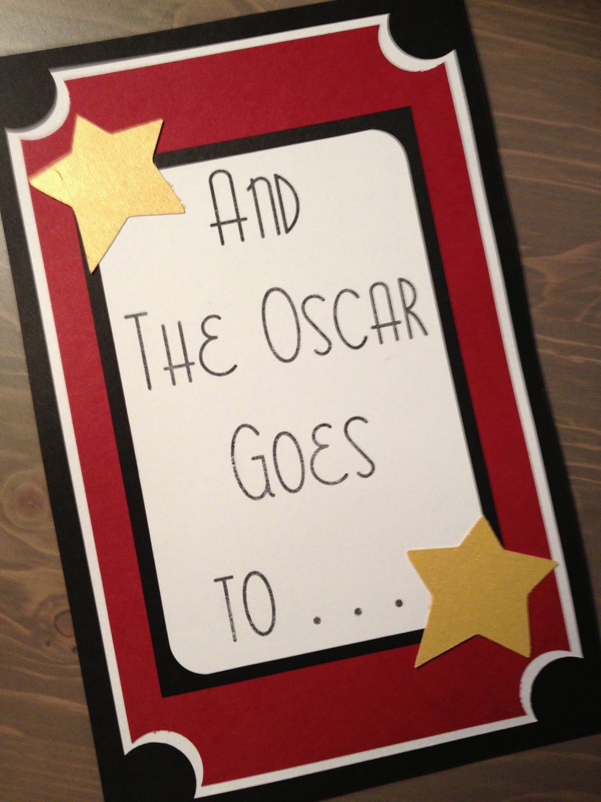 A Little Red Bird Designs: And The Oscar Goes To . . .