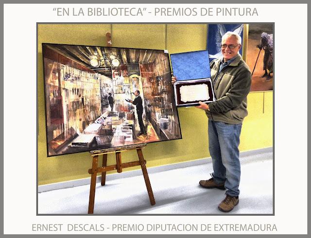 PREMIOS-CONCURSOS-PINTURA-DIPUTACION-EXTREMADURA-BADALONA-BIBLIOTECA-CONCURSO-HOGAR EXTREMEÑO-PINTOR-ERNEST DESCALS-