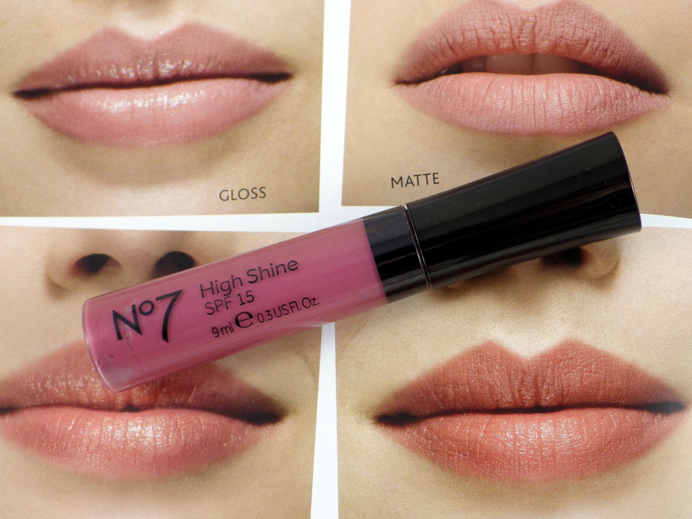 review  no7 high shine lipgloss in smile