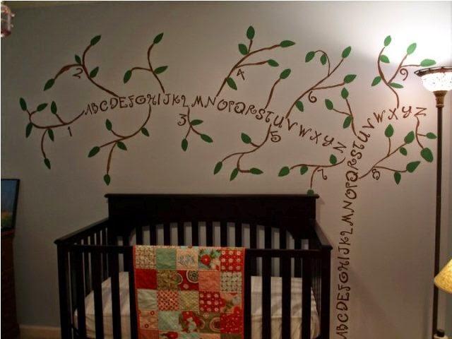 nursery wall painted tree