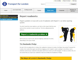 roadworks LONDON