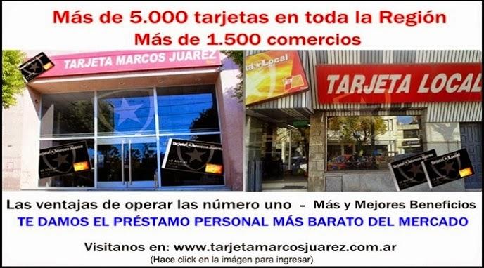 ESPACIO PUBLICITARIO: TARJETA LOCAL Y MARCOS JUÁREZ