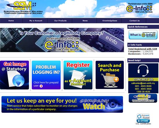 E-info SSM Semak Online Pendaftaran Perniagaan